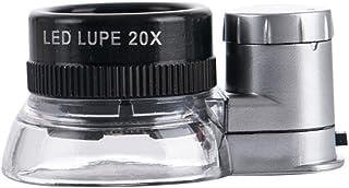 J&T LED付き 20倍ルーペ ルーペライト付き 拡大鏡20X コンパクトサイズ JT-03-006