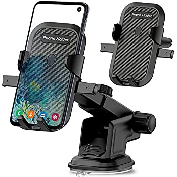 Car Phone Mount Holder for Moto G Power/G Stylus 2020 2021,G Play,G7 G6 Play Power Plus,Z4 Z3 Z2,G Fast,Edge/Edge Plus,Motorola One 5G Ace/Fusion+/Action,E 2020/E6,3 in 1 Dashboard Windshield+Air Vent