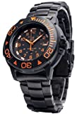 Smith & Wesson Men's SWW-900-OR Diver Swiss Tritium Black Dial Metal and Rubber...
