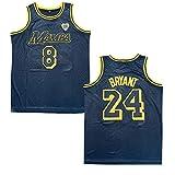Men's Mamba Black Jersey 8 Mamba 24 Bryant Farewell Tribute Basketball Jersey (Black, L)