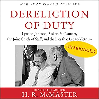 Dereliction of Duty audiobook cover art