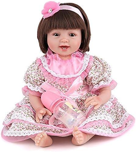 BADOLL Wiedergeburt Baby Simulation Lebensechte Dummy Kreativ Geburtstagsgeschenk Eltern-Kind Playmate Spielzeug