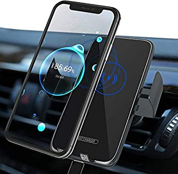 SoonHua Wireless 15W Qi Fast Charging Car Air Vent Phone Holder