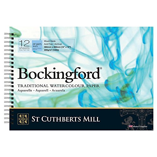 Bockingford Watercolor Spiral Pad 10 X 14 White 140 Pound