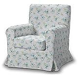 FRANC-TEXTIL 613-141-16 Ektorp Jennylund Funda sillón, sillón Funda, Ektorp Jennylund, Mirella, Azul/Gris