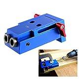 Feeilty Mini Pocket Hole Jig Kit di collegamento in legno 3 Step Drill Bit Slanted Wood Tassello Jig Tools Set