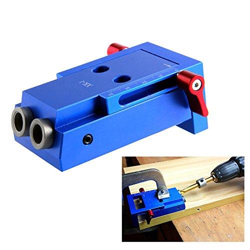 Starall Mini Tasche Loch Jig Kit Holz Link System 3 Schritt Bohrer schräg Holz Dübel Jig Tools Set