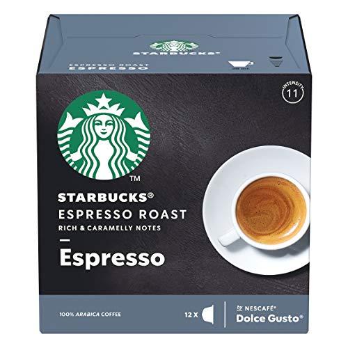 Starbucks Espresso Roast Dolce Gusto Compatible 12 Servicios, Multicolor, Talla Única