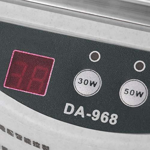 Limpiador de anillos, limpiador AC 220V 50H, máquina limpiadora de joyas con pantalla de 2 dígitos conmutable para departamentos dentales
