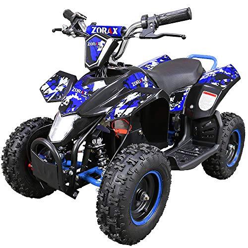 Zorax 36V 1000W Blue 6'' Tyre Battery Powered Kids Mini ATV Quad Bike {Foot...