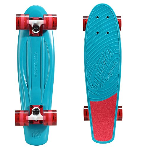 Kryptonics Originals komplett Skateboard, Aqua Blue