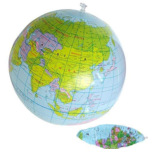 MZY1188 Aufblasbare Weltkugel, 40 cm Aufblasbare Weltkugel Unterrichten Bildung Geographie Spielzeug Karte Ballon Wasserball Kinder Spielzeug