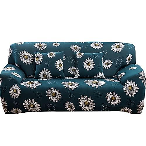ASCV Fundas de sofá Fundas de sofá en Forma de L Fundas de sofá para Sala de Estar Funda de sofá seccional de Licra A4 2 plazas