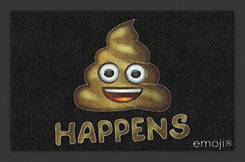 Close Up Felpudo Emoji - Shit Happens