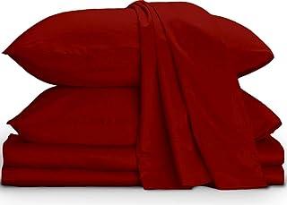 "MEGA COLLATION BEDDING'S Supreme Collection Bed Sheet Set- 4 PCs Sheet Set Fit Up to (21"" Inch) Extra Deep Pocket 700 Thre..."