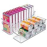 mDesign 2er-Set Aufbewahrungsboxen - ideal als Kühlschrankbox