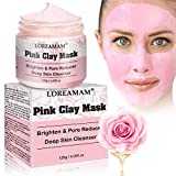 <span class='highlight'>Moisturising</span> <span class='highlight'>Masks</span>, Pink Clay Mask, Deep Cleaning Clay Mask, <span class='highlight'>Moisturising</span> <span class='highlight'>Masks</span>, for Reduction in Pores, Spots, Blackheads & Acne, Rejuvenated to Smooth & Moisturizing Face and Body 120g/4.05fl.oz
