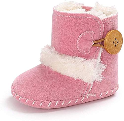BENHERO Baby Boys Girls Anti-Slip Snow Boots Winter Warm Infant Toddler Outdoor Shoes(0-6 Months Infant, A-Light Purple