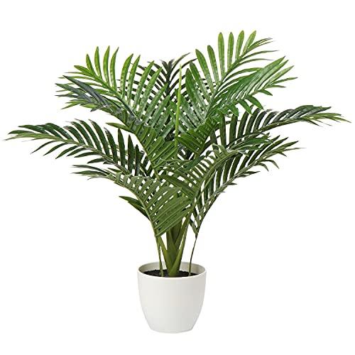 Kunstpflanze Palme Künstliche Pflanzen Kunstpalme Kunstbaum Groß Tropische Aesthetic Deko für Wohnzimmer Schlafzimmer Büro Balkon, 60CM