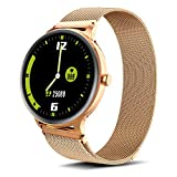 IOWODO Smart Watches for Women Fitness Tracker Sport Watch- Activity Tracker with Heart Rate Monitor Android Smart Watch Men iPhone Watch IP68 Waterproof Smartwatch Fit Watch Rose Gold