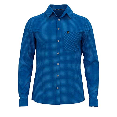 Odlo Herren Nikko Hemd, Directoire Estate Blue-Check, XL