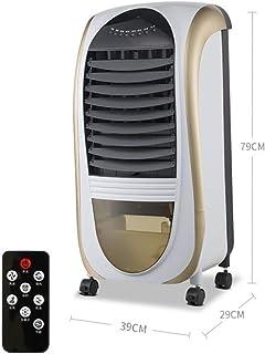 Ventilador Compacto De Aire Acondicionado,Portátil Bajo Nivel De Ruido Refrigerador Evaporativo Con Ruedas Giratorias,Enfriador De Aire Con Teledirigido Para Verano Dorado 79x39x29cm(31x15x11inch)