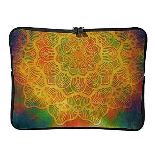 Regular Magical Orange Laptop Bags Multicolored Multifunctional - Bohemian Laptop Suitable for Business Trip White 12 Zoll