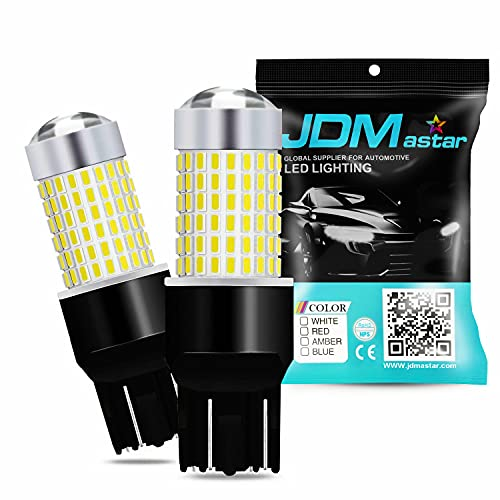 JDM ASTAR Extremely Bright 144-EX Chipsets 7440 7441 7443 7444 992 White LED Bulbs with Projector...