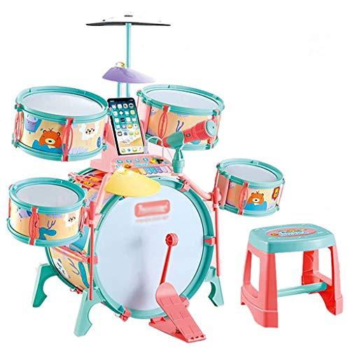 Lingling Schlagzeug Kinder Schlagzeug Sets Machen das ultimative Geschenk Jungen und Mädchen Musikinstrumente Spielset Kinder Starter Anfänger Lernen Schlagzeug Sets