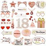 Opopark 18 Anni Compleanno Photo Booth Props, Compleanno Accessori Per Feste Per La Decorazione Della Festa di Compleanno