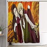 ngquzhe Black Butler Anime Duschvorhang mit Haken Duschvorhang wasserdicht, Duschvorhang, 60x72 Zoll