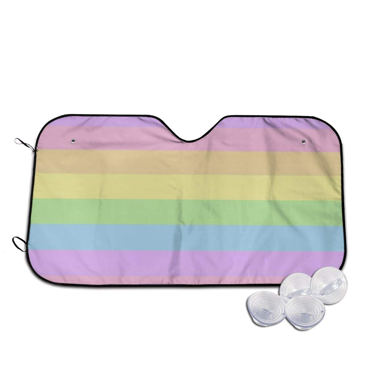 Pastel Rainbow Stripes Windshields New life Sun Shade Printed 3D Long Las Cheap mail order sales