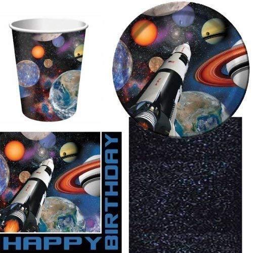 Space Blast Party Lot de vaisselle jetable pour 8