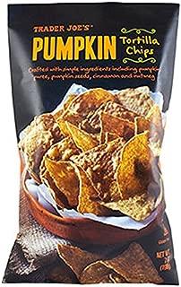 Trader Joe's Pumpkin Tortilla Chips, Gluten Free - 1 (7oz) Bag