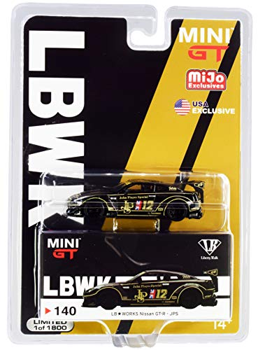 """Nissan GT-R (R35) Type 2 Rear Wing Version 3 LB Works #12""""JPS Limited Edition to 1800 pcs 1/64 Diecast Model Car by - True Scale Miniatures MGT00140"""