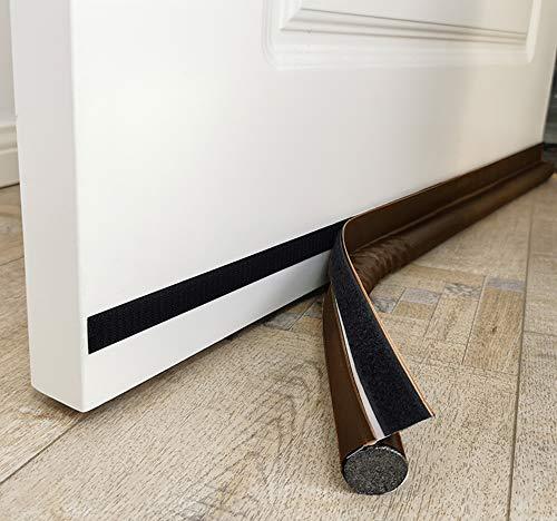 """MAXTID Door Draft Stopper 36"""" Adjustable Door Bottom Seal Strip Stopper Weather Stripping for Exterior/Interior Doors Brown"""