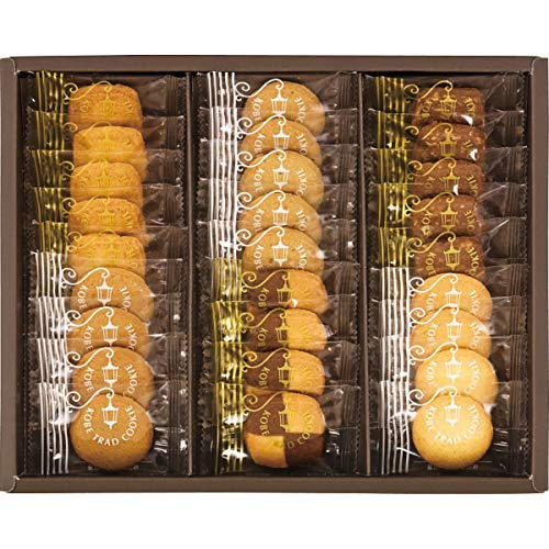 神戸トラッドクッキー クッキー詰め合わせ / 個包装で27枚入り 一口サイズで女性にもおすすめのサイズ / ココナッツ・紅茶・チョコアーモンド 各5枚 カフェキャラメル・モザイク・プレーン 各4枚 / TC-10