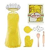 dmazing Kinder Spiel, Geschenke für Kinder 3-8 Jahre Zubehör Kinderküche Spielzeug für Mädchen 3-8 Jahre Interessantes Geschenke Junge Spielzeug Geburtstagsgeschenk für Mädchen 3-8 Jahre Gelb