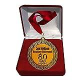 Larius Group Medalla de honor para aniversario de 80 años, premio Jubilar, regalo con caja