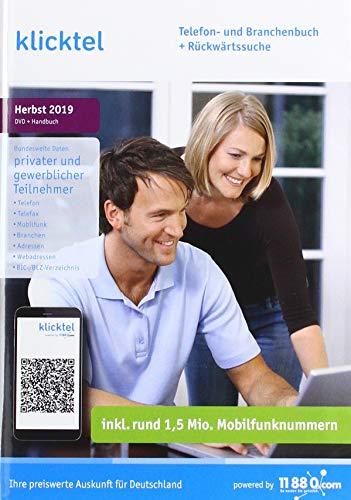 klicktel Telefon- und Branchenbuch + Rückwärtssuche Herbst 2019