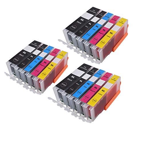 GBHD Tinta de Impresora 570571 PGI-570 CLI-571 Cartucho de Tinta Compatible para PIXMA MG5750 MG5751 MG5752 MG6850 MG6851 MG6852 TS6050 TS5050 5051 (Color : 3PGBK 3BK 3C 3M 3Y)