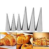 3 Unids/set Acero Inoxidable Antiadherente Postre Cannoli Espiral Croissant Tubos Cónicos Herramienta de Molde Para Hornear DIY(L)