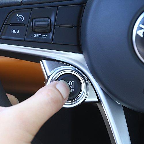 Nouveau. ABS Chromé mat Intérieur Démarrage Moteur Arrêt Coque Trim Accessoires Auto pour conduite à gauche