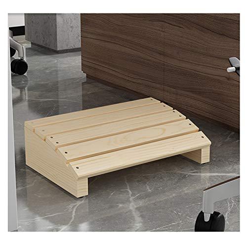 Apodis Fussstütze Schreibtisch Holz, Fußstütze unter dem Schreibtisch, Naturholz, Angenehme Textur, Fußbank Kann die Haltung für Büro und Zuhause Verbessern, 40×28×12cm