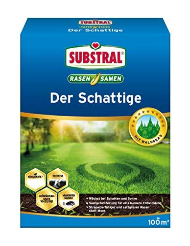 Substral Rasensamen Der Schattige- Schattenrasen - Einzigartige Premium Rasensamen-Mischung für schattige Stellen mit echtem Waldgras - 2 kg für 100 m²