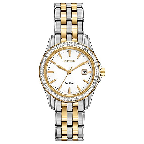 CITIZEN Damen Analog Quarz Uhr mit Edelstahl Armband EW1908-59A