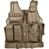 Barska Loaded Gear VX-200 Right Hand Tactical Vest, Tan