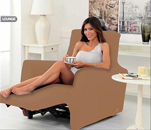 Housse de fauteuil Genius pour fauteuils inclinables, couleur bisque unie 1010