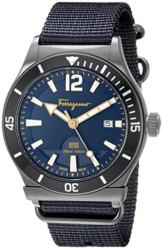 Salvatore Ferragamo Men's FF3210015 FERRAGAMO 1898 Sport Analog Display Quartz Blue Watch