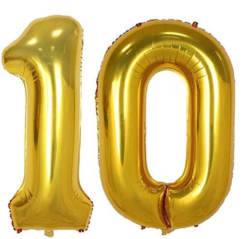 Tellpet Gold Number 10 Balloon, 40 Inch